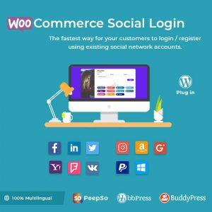 Plugin Wordpress Premium: Social Login - Inicio sesión, registro usuario.