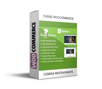 Food Store Thema Woocommerce Comidas Restaurante